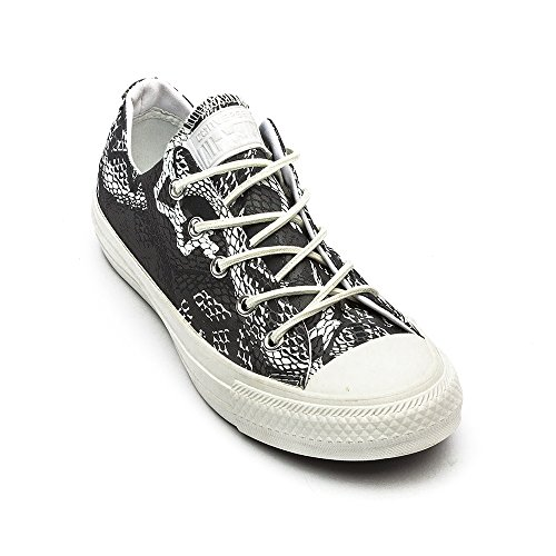 Converse Chuck Taylor All Star Ox, Unisex-Erwachsene Sneaker Grau / Weiß