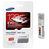 Samsung Evo Plus 128 GB MicroSD XC Class 10 UHS 1 80mb/s Mobile Memory Card 128G MB MC128DA with Adapter and USB 2.0 MemoryMarket dual slot MicroSD   S available at Amazon for Rs.6198
