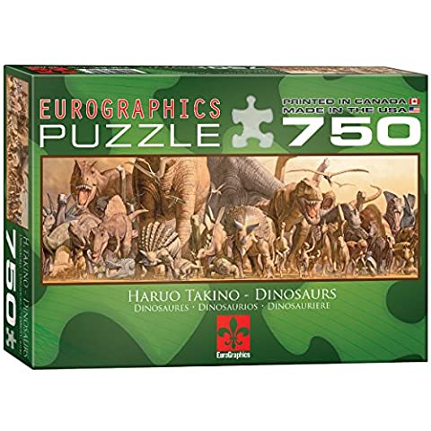Eurographics Dinosaurs by Haruo Takino Puzzle (750 Pieces)