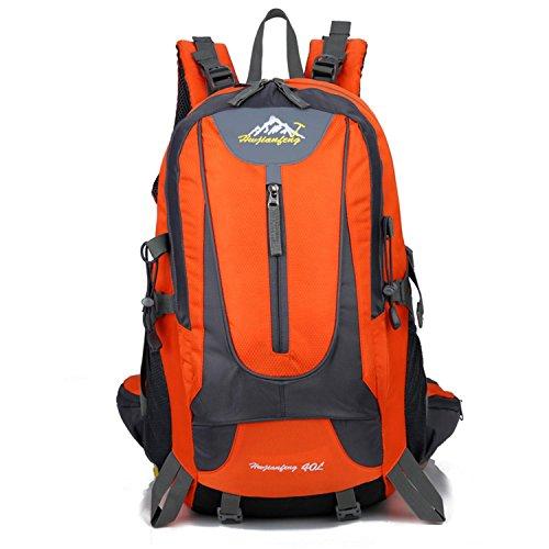 HWJF outdoor - paket camping professionelle bergsteiger freizeit rucksack zwei computer - tasche Orange
