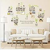 C : Kolylong Photo Frame PVC Wall Decals Adhesive Wall Stickers Mural Art Home Decor