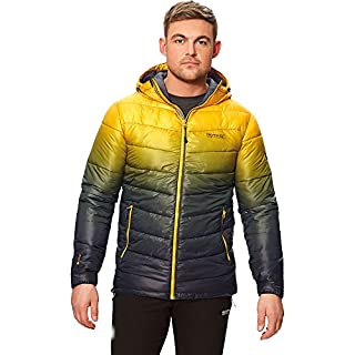 Regatta Men's Azuma II Lightweight Water Repellent Insulated Jacket, Old Gold, Large