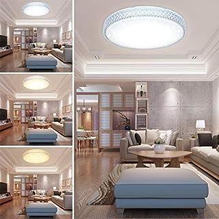 HG® 60W LED Deckenleuchte Wandlampe Farbwechsel Deckenlampe 3in1 Kristall  Deckenbeleuchtung Rund Lampe Wohnzimmer Flurleuchte Schlafzimmer