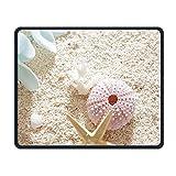 Drahtlose Mausunterlage, Nette Starfish auf den Strand-Mausunterlagen, bewegliches Computer-Spiel personifizierte bewegliche CuteMouse Auflage Matte für Frauen-Männer zu Hause oder Arbeit