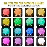 EisEyen 8/10/12/15/18cm LED Mond Lampe mit Fernbedienung Farbige Dekoleuchte 3D Mond Kunst LED Mondlicht tragbares Nachtlicht mit Timer für Schlafzimmer, Wohnzimmer,Cafe, Bar, Esszimmer
