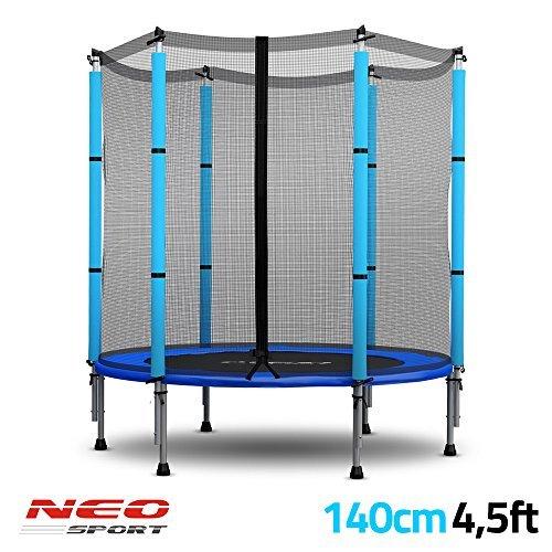 Trampolin für Kinder mit Sicherheitsnetz 140 cm (4,5ft) Neo-Sport Gartentrampolin