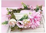 ZGP &Kopfschmuck Krone Blumen-Kranz, Stirnband-Blumen-Girlande-Handgemachtes Hochzeits-Braut-Partei-Band-Stirnband Wristband Hairband (Farbe : C)