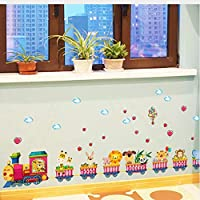Hayvanlı Sevgi Treni Bebek ve Çocuk Odası Dekorasyonu Duvar Sticker