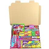 Mini Cesta Americana caramelos Wonka | Golosinas y barra de caramelos de selección en caja regalo | Surtido incluye Wonka Nerds Gobstoppers | 11 artículos de caramelos Retro