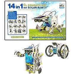 Kit de construccion Robótica 14 en 1 con movimiento por energía Solar