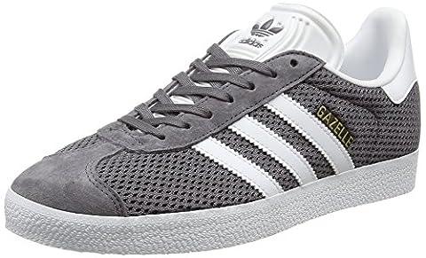 adidas Gazelle, Baskets Basses Mixte Adulte, Gris (Trace Grey/Footwear White/Trace Cargo), 37 1/3 EU