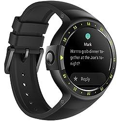 Ticwatch Reloj Inteligente Smart Watch Pantalla Táctil de OLED 1.4 Pulgada Compatible con iOS y Android Sistema Android Wear 2.0 Comience Su Vida Inteligente Color Negro
