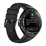 Montre intelligente Ticwatch S Knight, Bluetooth Montre Connectée Smart Watch, Montre-bracelet pour iPhone IOS et Android-Noir, Android Wear 2,pour Femme Homme Enfant, Votre Compagnon de sport