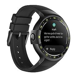 Ticwatch S Knight Smartwatch Intelligente Armbanduhr mit 1,4 Zoll OLED-Display, Android Wear 2.0, Sportuhr Hochwertig Kompatibel mit Android und ios Geeignet für Die Meisten Typen von Smartphone