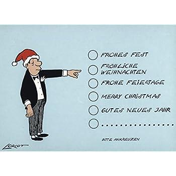 loriot weihnachtpostkarten mit lustigen spr chen frohe. Black Bedroom Furniture Sets. Home Design Ideas
