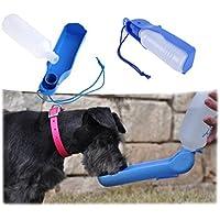 Sannysis accesorios para perros, Botella de agua deportiva 250ML (Azul)