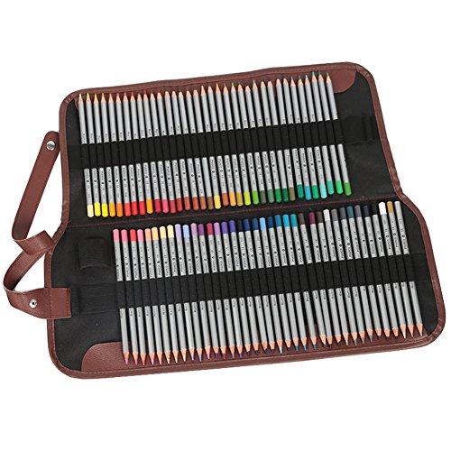 Tomkity Crayons de couleur coloriage 72 Couleurs Crayons de couleur Marco Raffiné Crayons d'Artiste Dessin coloré crayons de coloriage avec Trousse