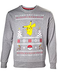 Pokemon Pikachu Christmas Sweater Jersey Gris/Melé
