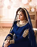 Aryan Fashion Blue COLOR LATEST INDIAN DESIGNER ANARKALI SALWAR KAMEEZ DRESS for women & girls party wear stitched For Girls For Specail Uses In wedding, engagement , Party Wear, Free Size