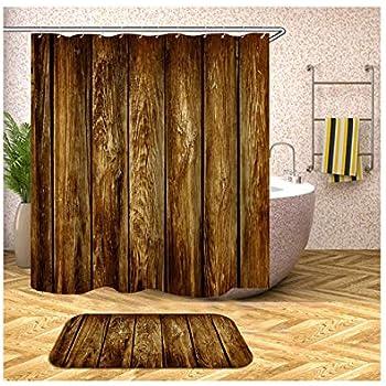 Grobes dunkles Holz Schokolade Duschvorhang