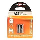 ANSMANN Alkaline Batterie A23/LR23 - 12V Batterie insbesondere für Garagentor-Fernbedienungen mit langer Haltbarkeit - Zusätzlich auch für Taschenrechner, Waagen, Uhren und Autoschlüssel