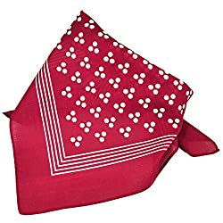 Burgundy With White 3-Dot & Stripes Bandana Neckerchief from Ties Planet
