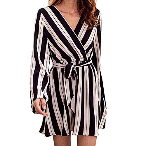 SamMoSon Kleid Damen Kleider Elegant Abendkleid Cocktailkleid Festlich Partykleid Rockabilly...