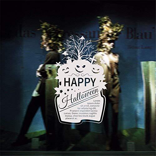 Hechgobuy Die Stilvollen Gehäuse Halloween Kürbis Gesicht PVC Abnehmbaren Fenster Glas-Wand-Einrichtung in Grün Wand Poster, 94 * 58 cm (Einen Für Kürbis Gesichter Die In Halloween)
