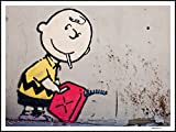 imagenation Banksy 'Charlie marrón'-60cm x 80cm impresión en láminas autoadhesivas papel Póster