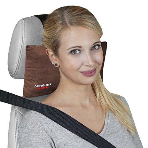 Sandini RelaxFix – Nackenkissen für Autositz/Nackenstützkissen/Autostützkissen – Viele Farben – Einfache Anbringung an der Kopfstütze – Sorgt für Entspanntes Anlehnen/Zurücklehnen im Auto