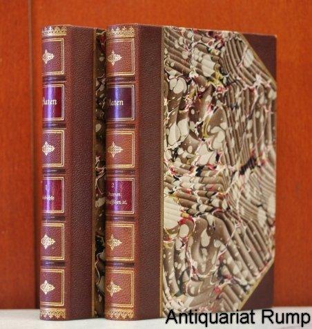 Platens Werke. Herausgegeben von G.A. Wolff und V. Schweizer.