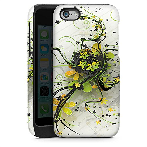 Apple iPhone 5s Housse étui coque protection Fleurs Fleurs Vrilles Cas Tough brillant