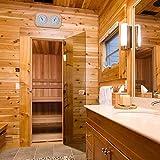 guowei0074 Sauna Klimamesser/Sauna Thermometer Hygrometer mit Holzrahmen useful -