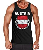 MoonWorks EM WM Tanktop Fanshirt Herren Fußball Österreich Flagge Austria...