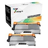 7Magic Kompatibel Brother TN2220 TN2210 TN2010 Toner Patronen (2 Schwarz) für Brother MFC-7360N MFC-7360 MFC-7460DN DCP-7055 DCP-7055W DCP-7070DW DCP-7065DN HL-2240 HL-2130 HL-2250 HL-2250DN FAX-2840 Drucker