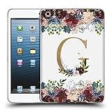 Head Case Designs Offizielle Nature Magick G Blumen Monogramm Blumig Gold Soft Gel Hülle für iPad Mini 1 / Mini 2 / Mini 3