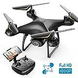 SNAPTAIN SP650 Drohne mit Kamera 1080P Full HD 120° Weitwinkel, Drohne mit 2 Akkus für 24 Minuten Flugzeit, RC Drone mit Gesten-, Sprach- und Appsteuerung, VR und Kopflos Modus, 3D Flips, Notlandung