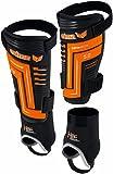 Erima Schienbeinschoner Custom E-Lite 5.0, Schwarz/Neon Orange, 180-190, 721409