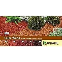 Dekormulch Eifelhum Color Wood braun 60 Liter Körnung 10-40