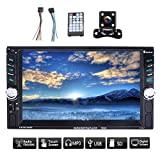 YUGUIYUN Autoradio 2 Din 7 Zoll HD Touchscreen Auto Radio MP5 Spieler Autoradio-Stereoaudiomusik Mirrorlink Bluetooth FM USB TF AUX IN, Unterstützung Fernbedienung und Rückfahrkamera 7652d