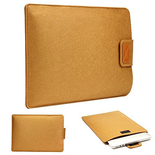 Urcover 13,3 Zoll (43 cm) Filz Laptop Tasche und Tablet Hülle passend für Ihr iPad, Lenovo Tablet, Samsung Tab, Netbook und viele weitere Mobile Endgeräte Braun