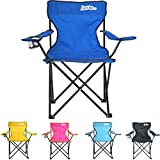 just be...® Folding Camping Chair - Royal Blue with Dark Blue Trim