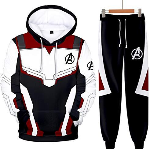Homme Ensembles de Sport Quantum Realm Superhero Avengers Endgame Sweats avec Pantalon (S)