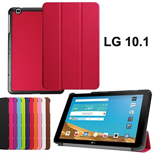 asng LG G Pad X 10.1Case-Ultra Slim Leicht Standing Cover für LG G Pad 225,7cm (V940)/LG G Pad X 25,7cm (4G LTE at und T V930) Android 2015Tablet Rosarot