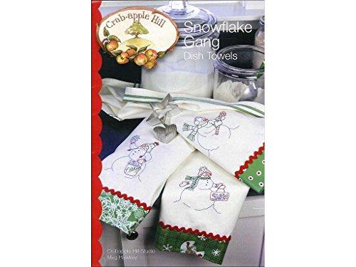 Crabapple Hill Schneeflocke Gang Gericht Handtücher Muster