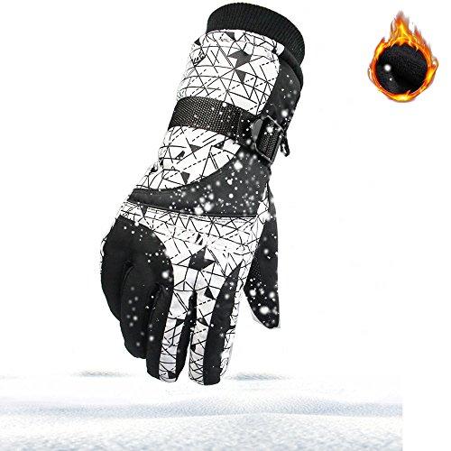 Ski Handschuhe Skihandschuhe Winddicht Für Männer,Herren,Frauen,Jungen,Mädchen Winter Outdoor Sports Paar Snowboard Thermische Warme Schnee Ski Snowboarding mit Verstellbaren Manschetten