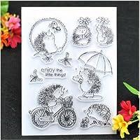 WEISHAZI Hedgehog Transparent Clear Rubber Stamps DIY Scrapbooking Embossing Album Card