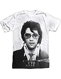 1e4836dc15b14 Elvis Presley Hombre Play Me una canción de sublimación Camiseta Blanco
