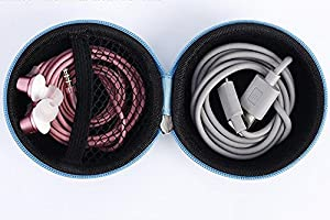 Westeng Rounded Storage Bag Coin Purse Fidget Spinner Protective Case Portable Travel Container for USB Cable/ Headset/ Charger/ Finger Toy