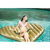 Flotador inflable en forma de corazón tamaño gigante para la piscina o playa. Color de oro. Corazón del oro flotador hinchable para la piscina o la playa por Integrity co